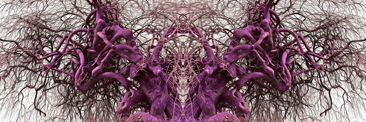 Baum Symmetrie gespiegelt bedrohlich